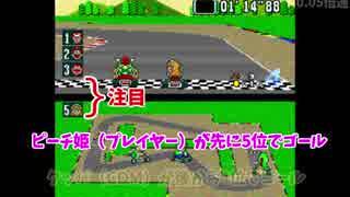 【スーパーマリオカート】ゴール順と順位のバグ