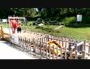 """【滋賀県立びわ湖こどもの国:冒険ゾーン】""""びわ湖水めぐり""""でガチャポンプで水をくんだり、水車を回して遊ぶあい♥お出かけ 外遊び 水遊び"""