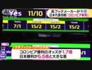 W杯日本初戦 英ブックメーカー「コロンビア有利」