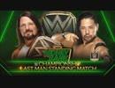 第9位:【WWE】AJスタイルズ(ch.)vs中邑真輔:Last Man Standing【MITB18】