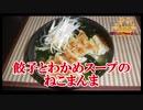 【おとなのねこまんま555】Part205_餃子とわかめスープのねこまんま
