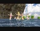 【アイマス】夏なので海でジブリ(画質犠牲版)【MMD】