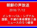 【NK-POP】朝鮮の声放送OPからニュースまで【107/7/12】