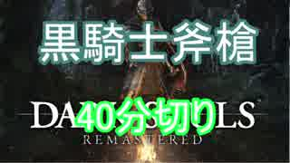 【解説付RTA】ダークソウルリマスター 黒騎士斧槍  RTA 39:46 IGT35:45 part1