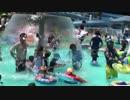 【格安プール】奈良県第二浄化センター ファミリープールの色々なプールで遊ぶあい❤水のカーテン すべり台 プリンセスソフィアの浮き輪 Pool 水遊び お出かけ