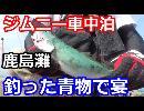 【釣り車中泊】釣った青物で宴【ジムニーJA22w】前編