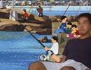 釣りをする先輩