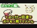 【ピカチュウ版】制限時間は120分!4倍速でポケモン育ててバトル!【はたさこ編】