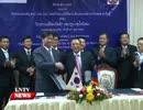 韓国融資で決壊ダムの施工が決まった ラオス水力発電PJ融資契約署名式(2015年10月)
