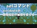 worldedit select Command解説