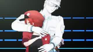 【MMDはたらく細胞】 白血球と赤血球(+α)で「乱躁滅裂ガール 」【1080p】