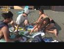 【海でツイスターゲーム】ビキニギャルとヌルヌル祭り