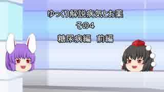【ゆっくり解説】 病気とお薬 その4 糖尿病編 前編