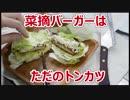 モスバーガーの菜摘バーガー(ロースカツ)はサラダ付きトンカツでした【バーガー探訪】