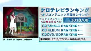 アニソンランキング 2018年8月【ケロテレビランキング】