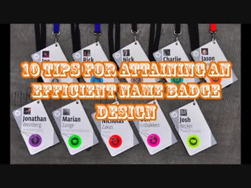 10 tips for attaining an efficient name badge design by einsturown