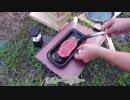 【ソロキャンプ】猛暑の中ステーキを焼く