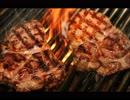 【癒し】お肉を焼くときの音《60分》(睡眠用BGM・作業用BGM)