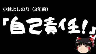 【ゆっくり保守】三年前の小林よしのり「プロなのだから自己責任!」