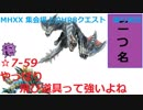 【MHXX/NS】上位になったからこそ集会場縛りプレイ【S7+-59】VS白疾風ナルガクルガ他