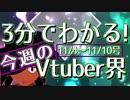 【11/4~11/10】3分でわかる!今週のVtuber界【佐藤ホームズの調査レポート】