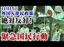 【頑張れ日本全国行動委員会】11.15 外国人移民政策絶対反対!緊急国民行動[桜H30/11/18]
