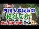 【頑張れ日本全国行動委員会】11.22 外国人移民政策絶対反対!緊急国民行動[桜H30/11/25]