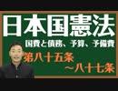 日本国憲法 第八十五〜八十七条〔国費と債務、予算、予備費〕とは?〜中田宏と考える憲法シリーズ〜