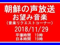 【NK-POP】朝鮮の声放送音楽リクエスト【107/11/29】