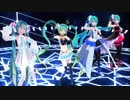 【MMD】レーミク、Sour式、どっと式初音ミクで「Blue Star」