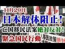 【頑張れ日本全国行動委員会】11.29 日本解体阻止!亡国移民法案絶対反対!緊急国民行動[桜H30/12/2]