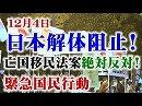 【頑張れ日本全国行動委員会】12.4 日本解体阻止!亡国移民法案絶対反対!緊急国民行動[桜H30/12/7]