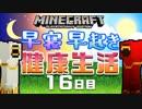 【Minecraft】早寝早起き 健康生活 16日目