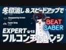 【BeatSaber】矢印消し&加速でEXPERTのフルコンチャレンジ【ねこまねねこ】