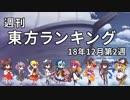 第68位:週刊東方ランキング 18年12月第2週 thumbnail