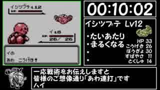 ポケモン赤RTA ケンタロスチャート part1/? X:X4:00