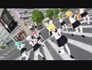 【MMD】GUMI with セーラー服軍団が交差点を占拠してモザイクロールを‥‥