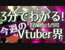 【12/30~1/5】3分でわかる!今週のVtuber界【佐藤ホームズの調査レポート】
