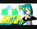 【おすすめMMD紹介】初音通信~Best Selection~CM