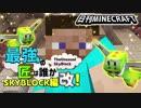 【日刊Minecraft】最強の匠は誰かスカイブロック編改!絶望的センス4人衆がカオス実況!#51【TheUnusualSkyBlock】