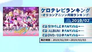 アニソンランキング 2019年2月【ケロテレビランキング】