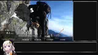 【RTA】 雪の西穂高岳攻略 4:00:06