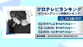 アニソンランキング 2019年3月【ケロテレビランキング】