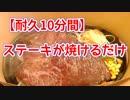 【10分耐久】ステーキが焼けるだけ