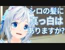 【真っ白!?】電脳少女シロの髪色調査