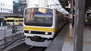 三鷹駅(JR中央緩行線)を発着する列車を撮ってみた
