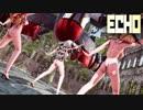 【MMD艦これ】ザラとポーラとプリンツ・オイゲンでECHO 水着BローアングルVer. 歌詞つき