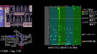 【TAS】キャッスルヴァニア 白夜の協奏曲 in 05:00.16 【camhack、マップ付き】