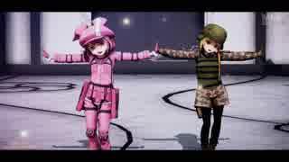 【MMD】GGOのLLENNとフカ次郎にZIGG-ZAGGを踊ってもらいました。