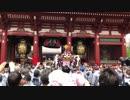令和元年五月十八日三社祭三栄町会神輿渡御 門に向かって